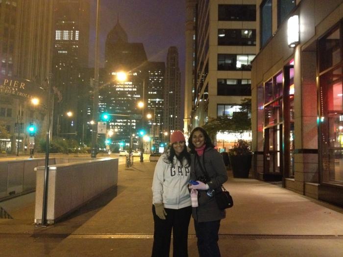 Malini and Marina, my walking companions!