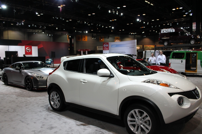 Nissan Cars at The Chicago Auto Show