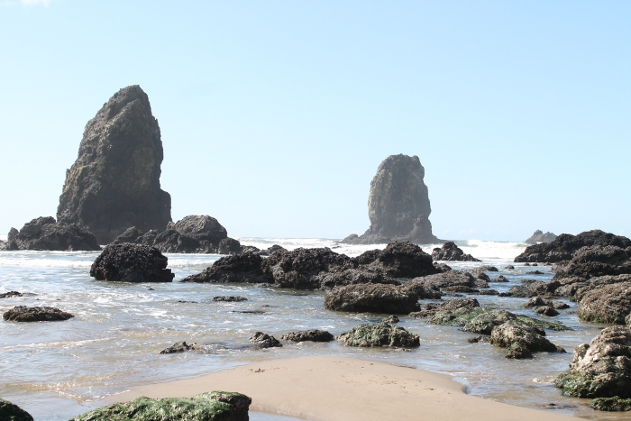 Rock formation by Haystack - Cannon Beach, OR