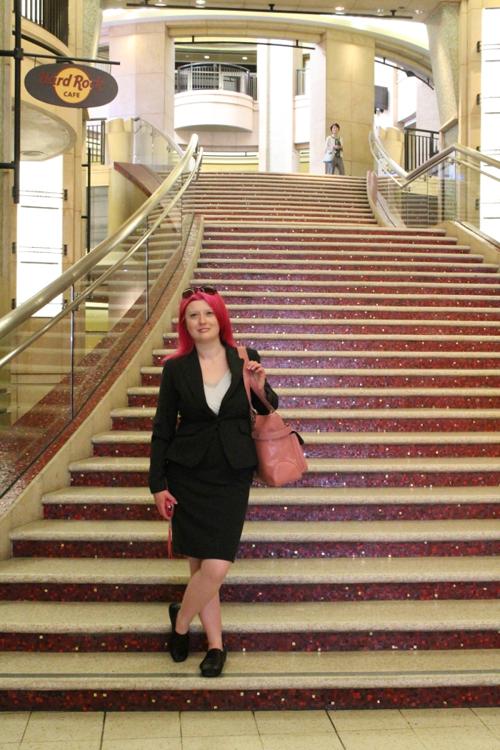 On the Dolby Theatre steps